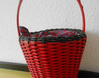 50s basket bag Red