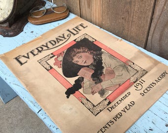 Antique Newspaper - Antique Magazine - Everyday Life - Early 1900's - Antique Advertising
