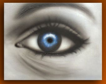 Airbrush - painted Deep blue see