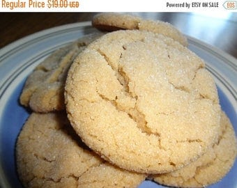 ON SALE: Homemade Delightfully Delicious Soft & Chewy Peanut Butter Cookies (2 Dozen)
