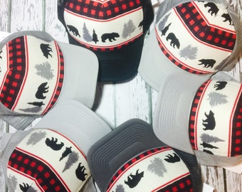 Verify size before ordering!New Flannel trucker hat for him or her.