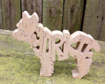 Yorkshire terrier, Yorkshire terrier jigsaw, Yorkshire terrier puzzle, Yorkie ornament,  Yorkshire terrier gift, Yorkie gift