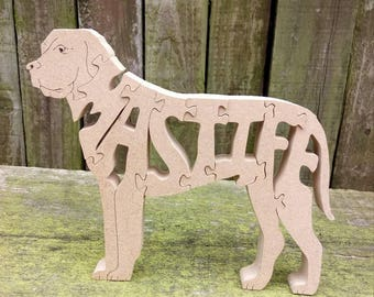 Mastiff gift, Mastiff ornament, Mastiff jigsaw, gift for him, gift for her, gift for dog lovers, dog gift, English Mastiff, English Mastiff