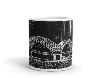 "Mug, 11 oz, Memphis, TN, Mississippi River, ""Old Man"", Memphis gift, coffee cup"