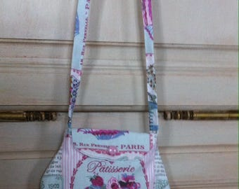 bag girl pattern cup cake shoulder flap