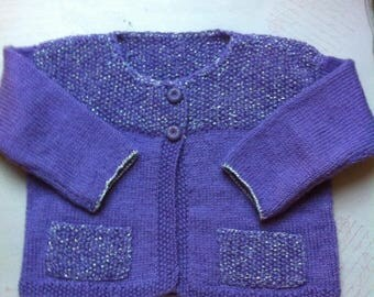 Girl 2 years old, hand knitted jacket Cardigan