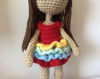 Amigurumi doll in dress