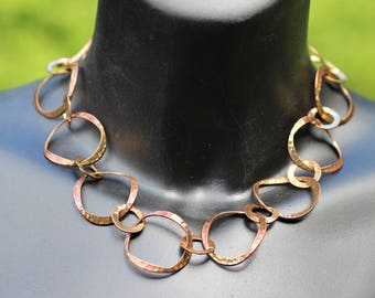 Vintage Handcrafted Copper Chain Necklace