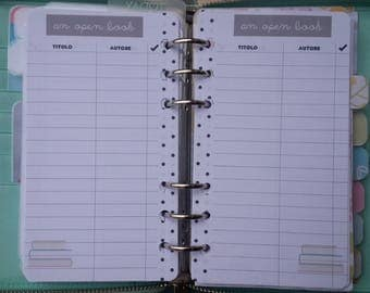 "Insert ""an open Book"" to keep track of books to read or buy A5 Personal Pocket"