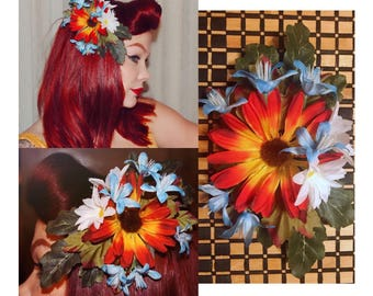 Pinup hair flower