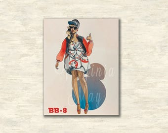BB8 Fashion Illustration Print
