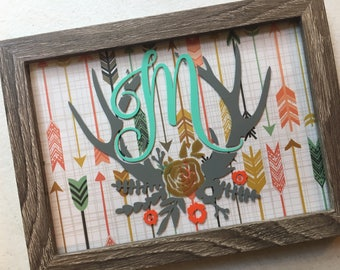 Rustic Personalized Picture Frames