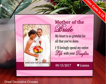 Groom's Gift to Mother in law, Mother of the bride personalized picture frame, Mother in law gift, Wedding gift from the groom. FWA002