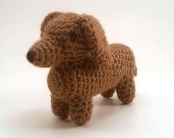 Daschund - Crocheted Dog