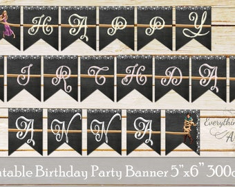Tangled birthday flags, Rapunzel party banners, Tangled birthday party, Rapunzel banners, Tangled flags, Printable party flags