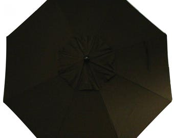 9 Foot Tilt and Crank LIGHT UP Octagon O'Bravia Umbrella in Bar Height - Model# HWSL9M - Free Shipping - Chocolate Brown