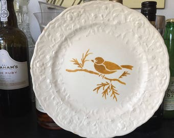 Upcycled Rose Point plates.