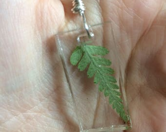 Resin Fern Necklace