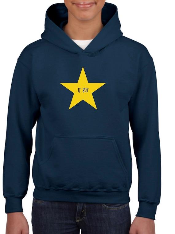 Boy hoodie IT BOY in a STAR