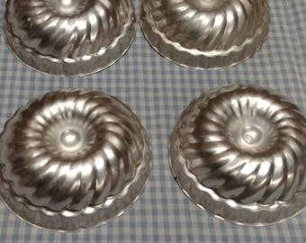 Vintage Metal Jello Molds-set of 4