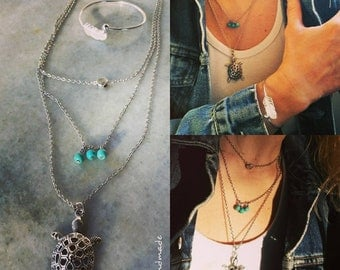 Chains necklaces with bracelet gift .