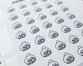 Cora - Emoji/ Emoticons (Happy)  | mid size monochrome character / action | Planner stickers