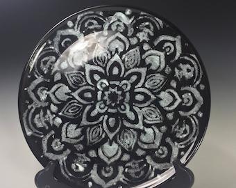 Mandala Ceramic Dinner Plate