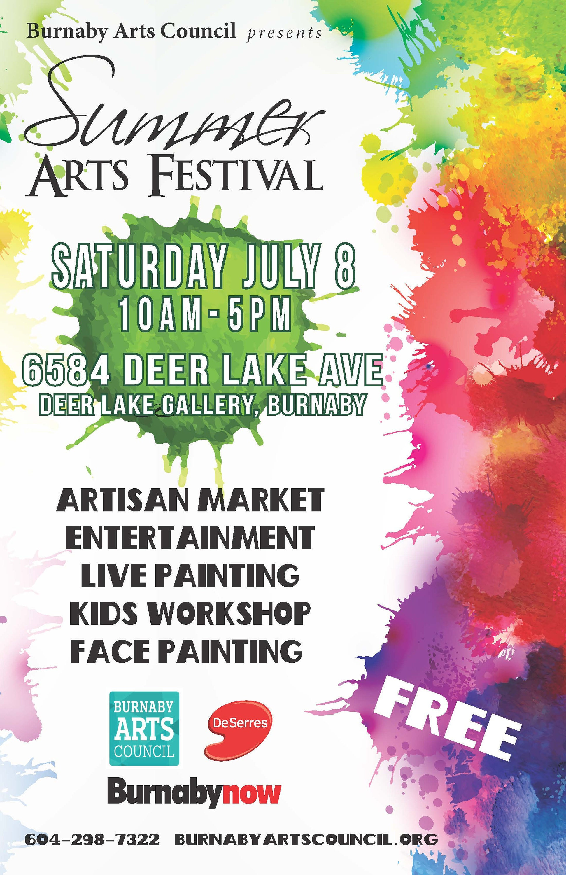 Summer Arts Festival in Burnaby, BC