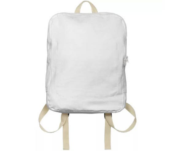 Unisex White Casual Backpack