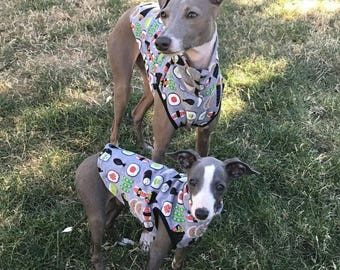 Italian Greyhound and Whippet Soft Cotton T shirts and sleeveless turtle necks.