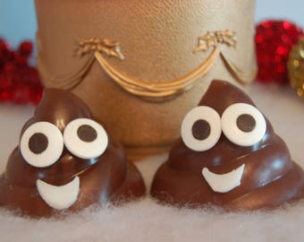 Reindeer Poop Soap - Poop Emoji - Christmas Poop - Gag Gift - Stocking Stuffer - Gingerbread or Snickerdodle Scented - Fun Soap for Teens