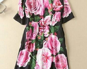 Roses #made to order# dress#