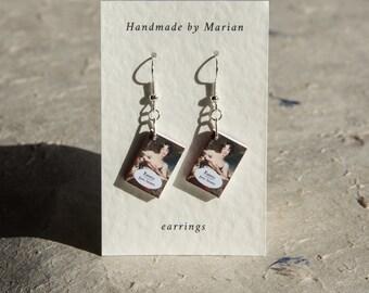 Emma book earrings Jane Austen