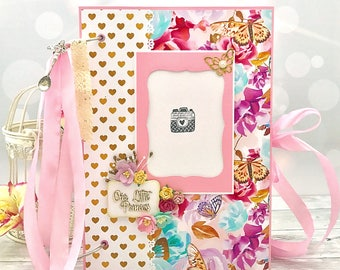 New Baby Scrapbook, Baby Girl Memory Book, Baby Album, Baby Photo Album, Little Princess Photo Album, First Year Scrapbook, Baby Shower Gift