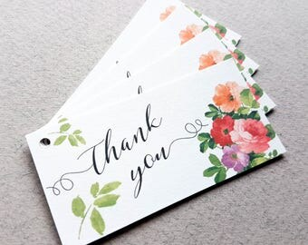 Floral Thank You Tags, Wedding Favour Tags, Business Stationary, Thanks For Your Order, Flower Tags, Floral Stationary, Floral Packaging
