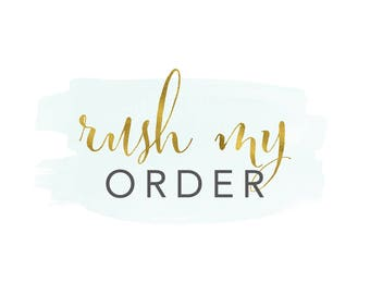 RUSH ORDER FEE - Read listing before purchasing.