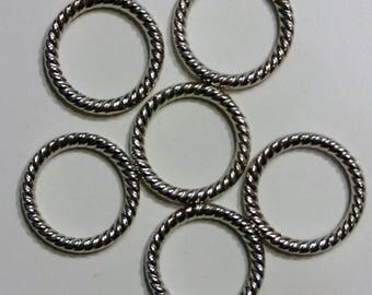 Silver Closed Rings (5)