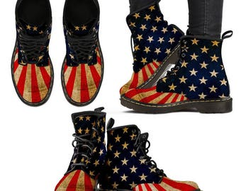 Women's 4th of July Boots.shoes,Stars and stripes boot,American Flag boots shoes,independence day