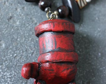 XXL Hellboy Right Hand of Doom necklace Big Red