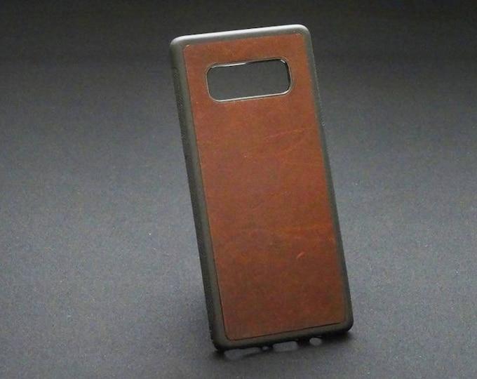 Samsung Galaxy Note 8 - Jimmy Case in Brandy Tan - Kangaroo leather - Handmade - James Watson