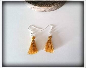 Earrings gold tassels