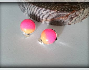 Clip earrings candy - resin