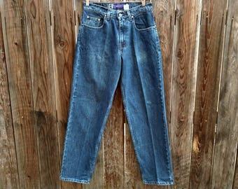 Vintage 90's Levis Silvertab Jeans Silver Tab Denim Dark Wash Grunge Baggy 30x32