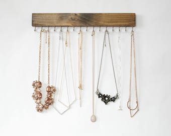 Wall Mount Jewelry Organizer, Necklace Holder
