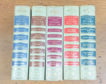 1962 Reader's Digest Condensed Books, Mint Green Hardcover