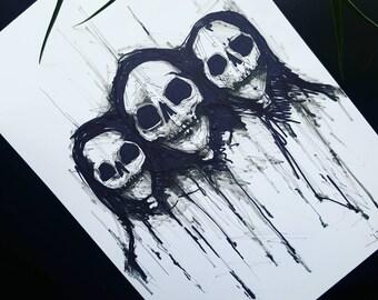 Human Skull Etsy