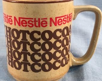 Nestle Rich 'N Creamy Hot Cocoa Ceramic 7 oz Coffee Mug Cup Vintage 70s <>Japan