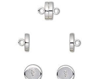 Magnetic Clasp, Silver Clasp, Very Strong Magnet, 8x4mm, 2 Each, D1013