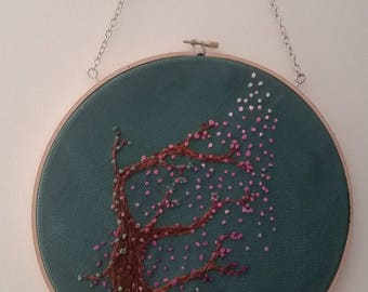 Embroidered earring holder