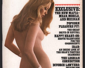 Mature Vintage Penthouse Magazine Mens Girlie Pinup : February 1977 VG+ White Pages, Complete With Intact Centerfold